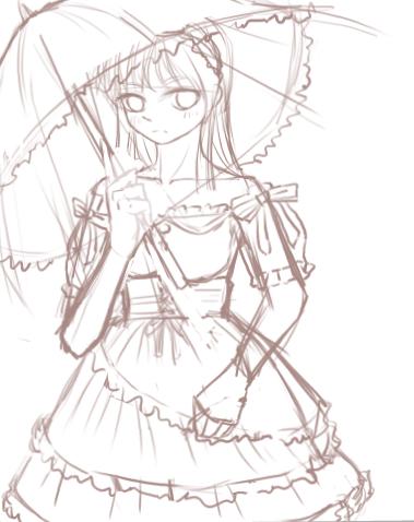 公主水晶高跟鞋简笔画步骤